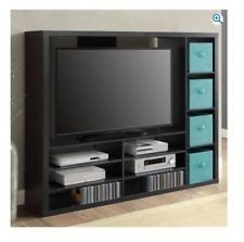 Home Entertainment Center Console Flat Screens Up To 55 TV Stand Theater Tall