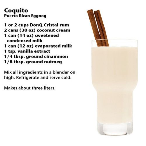 Don Q Coquito, my BFF is making these for Alex and I tomorrow! LOVE her! @Linda Bruinenberg Tillema ❤