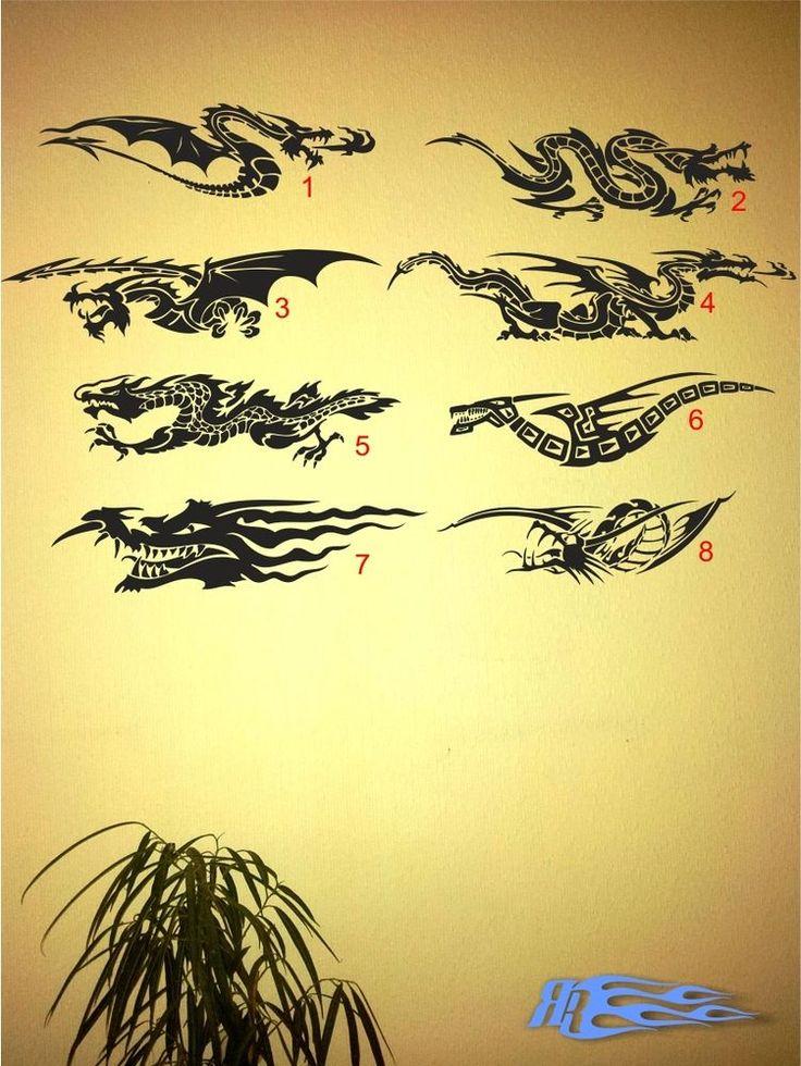 Ideal Wandtattoo Drache Japanische Chinesische Deko Wandaufkleber Japan China Mehr