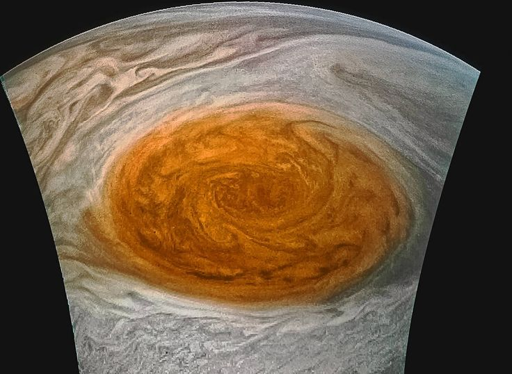 """Close-up of Jupiter's Great Red Spot"". Credits: NASA/JPL-Caltech/SwRI/MSSS/Jason Major"