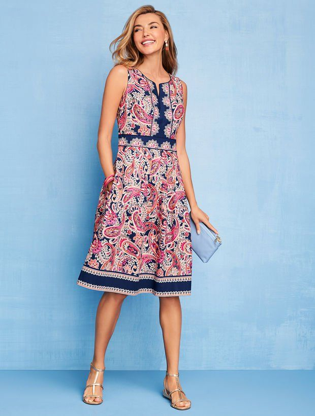 be2f0aeb550 Paisley Fit & Flare Dress in 2019 | Skinny girl shopping | Pinterest ...