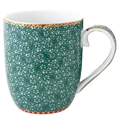 Buy PiP Studio Spring To Life Small Mug, Green Online at johnlewis.com