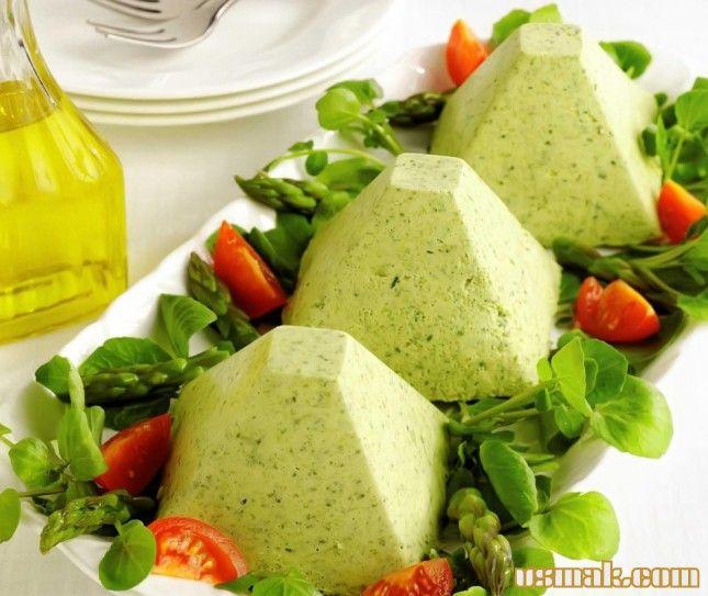 Рецепт Мусс из спаржи и шпината фото
