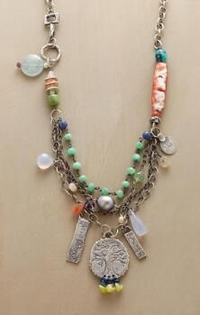 A Jes MaHarry multi-pendant gemstone necklace that gathers all the world's beauty into one perfect piece.