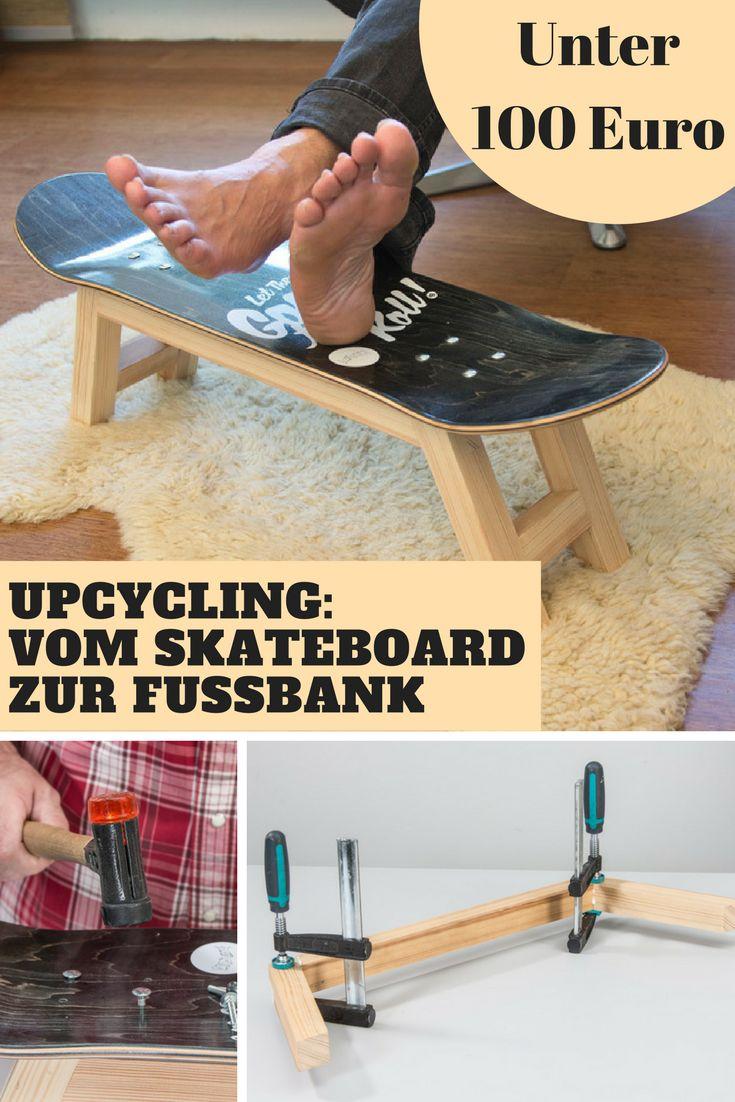 Turngeräte werden zu Sofas und Skateboard-Decks zur Fußbank. Upcycling ist nach wie vor im Trend!