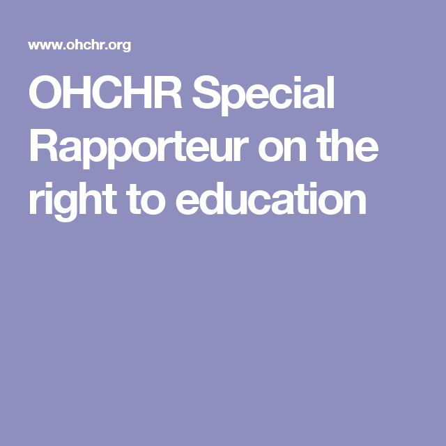 OHCHR Special Rapporteur on the right to education