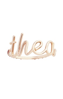 Personalized ring in gold- Add your child's name!   | THEA – by Emilie Duchêne