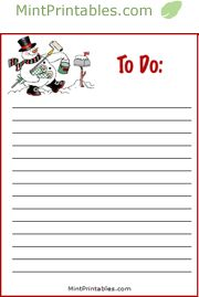 printable christmas lists and holiday planners