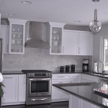 Gray Granite Countertops, Contemporary, kitchen, Behr Dolphin Fin