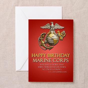 Happy Birthday Marine Corps Greeting Cards