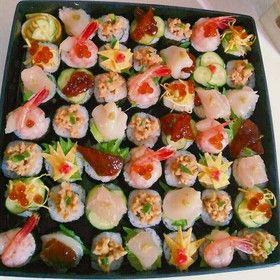 とっても簡単♡手鞠寿司風~手巻き寿司