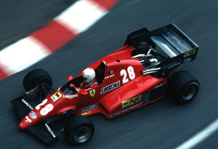 Rene Arnoux, Ferrari 126C2B, 1983 Monaco GP