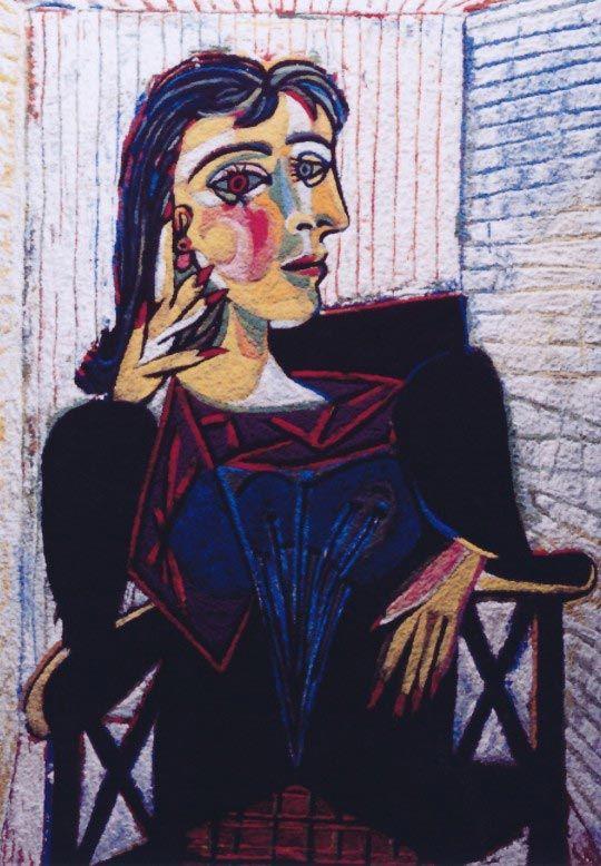 Vik Muniz, Dora Maar Seated, after Picasso (Pictures of Pigment), 2007 © Vik Muniz - Courtesy galerie Xippas