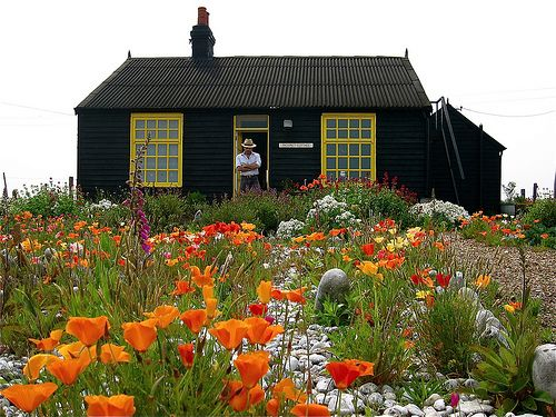 Derek Jarmans' Prospect Cottage at Dungeness UK not far from Great Dixter - you can fit in both in a day!