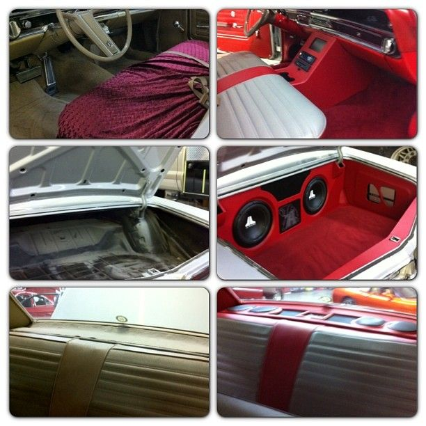 Before and after on the Buick. old school buick lesabre  custom car audio sound waves memphis