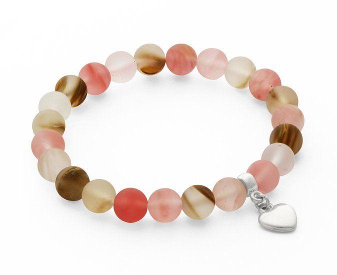 Tiger quartz with little heart pendant. (proj. LAVOGA), do kupienia w DecoBazaar.com