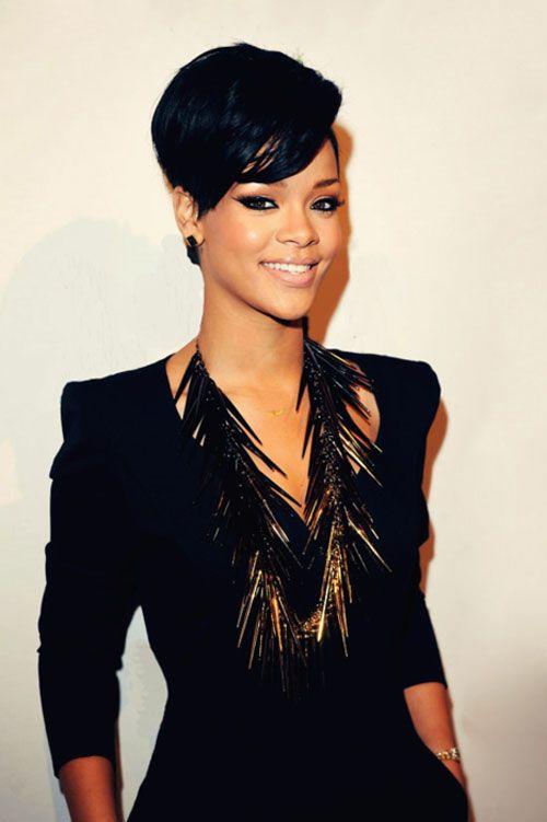 Fabulous 1000 Ideas About Rihanna Short Haircut On Pinterest Black Bob Hairstyles For Women Draintrainus