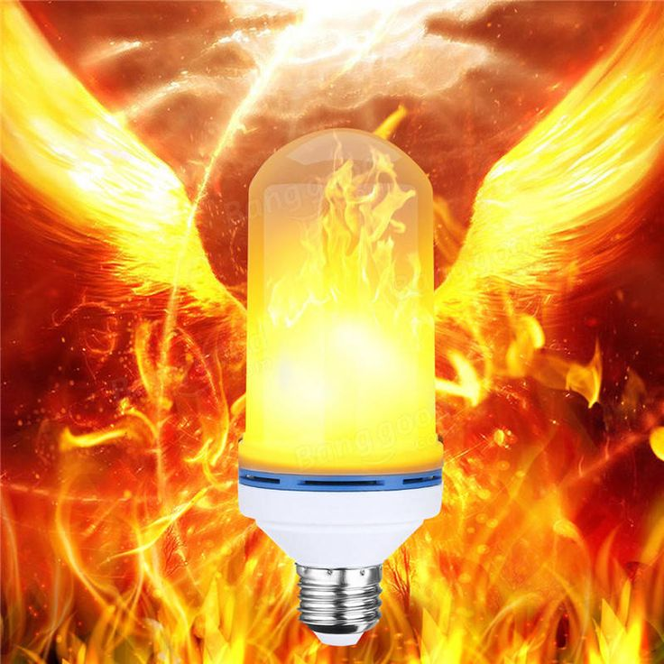 E27 5W SMD2835 99LEDs Three Modes 800LM 2300K Warm White Flame Light Bulb AC85-265V