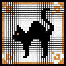 Black cat cross stitch chart free. (have)