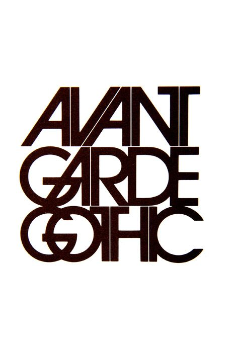 Avant Garde Gothic typeface design by Herb Lubalin