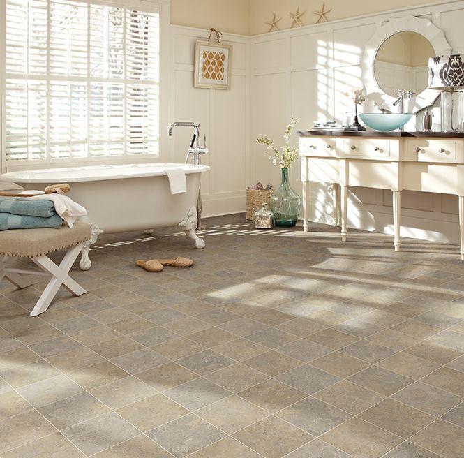 Waterproof and gorgeous sheet vinyl flooring from ivc us - Waterproof vinyl flooring for bathrooms ...