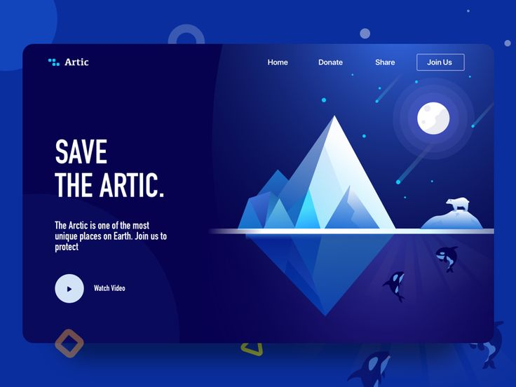 landing page | Save the artic
