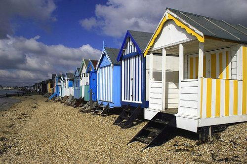 Beach huts at Southend. We want some these for the garden.