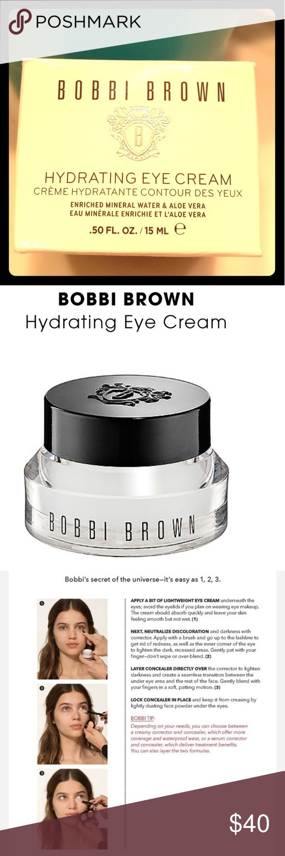 Bobbi Brown Hydrating Eye Cream .50oz, never been used. In its original packaging. Got it a couple of months ago. Bobbi Brown Makeup
