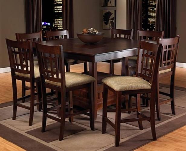 Dark brown pub style table and chairs decorating ideas for Pub style kitchen table