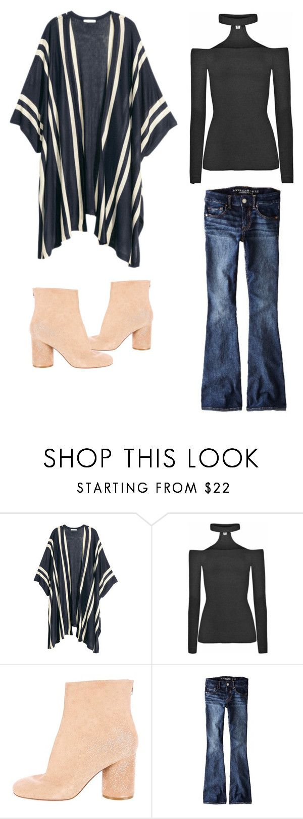 """""""Untitled #349"""" by theclothesmind on Polyvore featuring Chicnova Fashion, Maison Margiela and American Eagle Outfitters"""