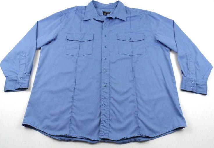 5.11 Tactical Series 2XL XXL Long Sleeve Button Front Shirt Blue 100% Cotton #511Tactical #ButtonFront