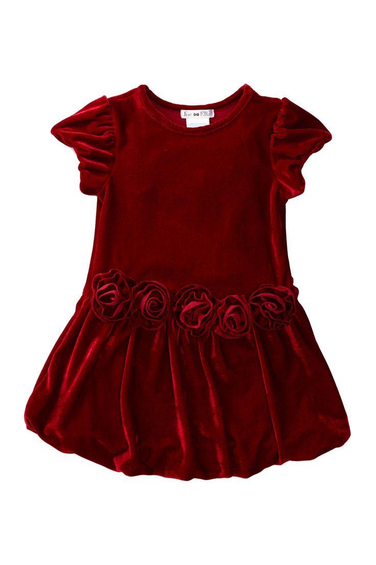 Ginger Rosette Dress (Baby, Toddler, Little Girls,