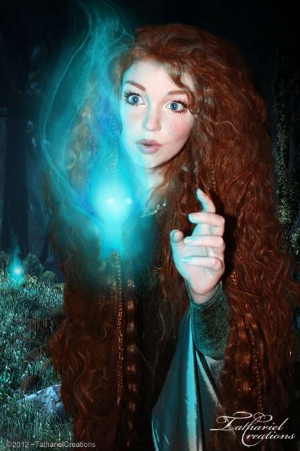Beautiful Merida cosplay! I love the wisp :)