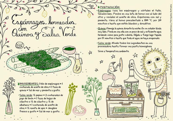 Reina Palta: Espárragos Horneados con Quinoa y Salsa Verde