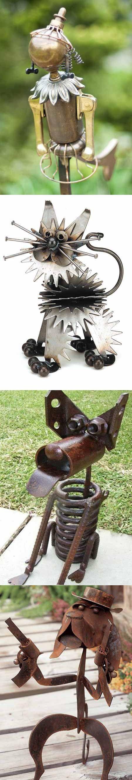 Поделки для дачи: 10 забавных фигурок из металла | Дача | Постила