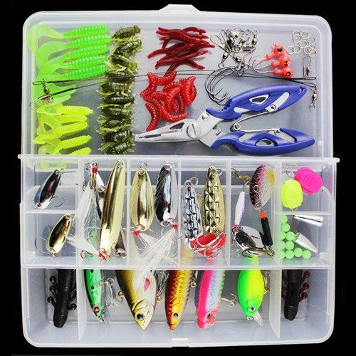 100 pcs/Box Fishing Accessories Tackle Box with Complete Fishing Lure – A3IM Fashions