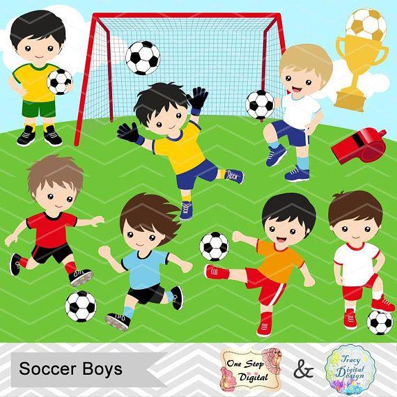 Digital Boys Soccer Clipart Boy Soccer Digital Clip Art Etsy Clipart Boy Soccer Boys Clip Art