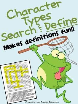 Character Terms: Find & Define Vocabulary Word Search Worksheet    Antagonist  Archetype  Characterization  Dynamic Character  Flat Character  Main Character  Minor Character  Protagonist  Round Character  Static Character