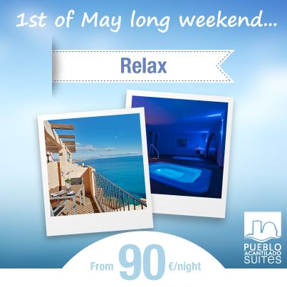 Este puente de mayo disfruta de unos días de relax con nuestra oferta especial / This long weekend in May you can enjoy of some relaxing days with our special offer.