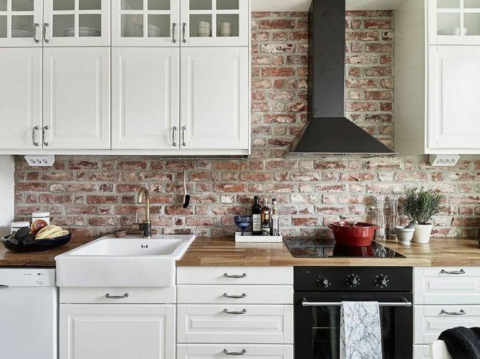 1001 Designs Et Conseils Pour La Cuisine Rustique Parfaite Cuisine Rustique Cuisine Brique Idee Decoration Cuisine