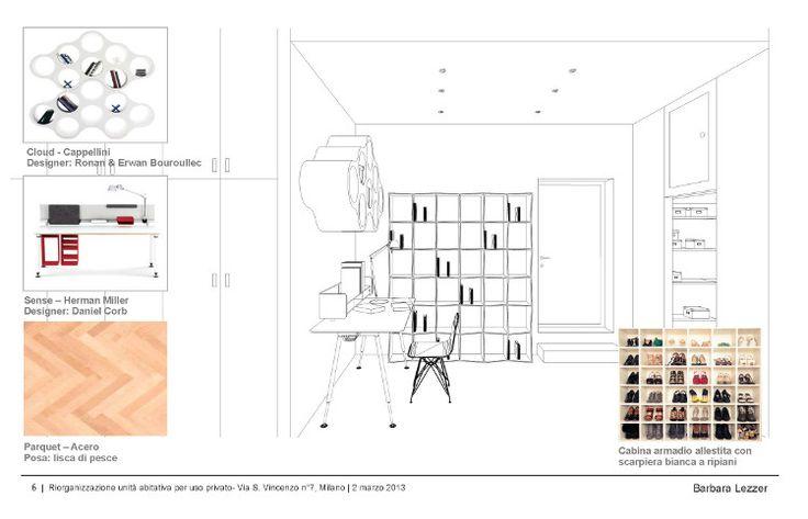 Esami finali Corso di Interior Design (www.madeininterior.it): progetto di interni di Barbara Lezzer