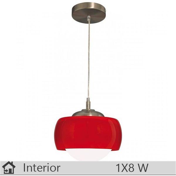 Pendul iluminat decorativ interior Klausen, gama Oazis, model SP1 rosu