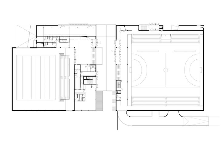 Image 8 of 26 from gallery of Sports Centre Csörsz / T2.a Architects. Street Level Plan 01