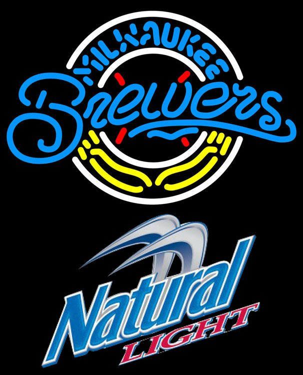 Natural Light Milwaukee Brewers MLB Neon Sign 3 0012, Natural Light with MLB Neon Signs | Beer with Sports Signs. Makes a great gift. High impact, eye catching, real glass tube neon sign. In stock. Ships in 5 days or less. Brand New Indoor Neon Sign. Neon Tube thickness is 9MM. All Neon Signs have 1 year warranty and 0% breakage guarantee.