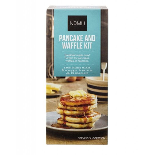 Perfect, foolproof pancakes are so easy with the NOMU Pancake and Waffle Baking Kit