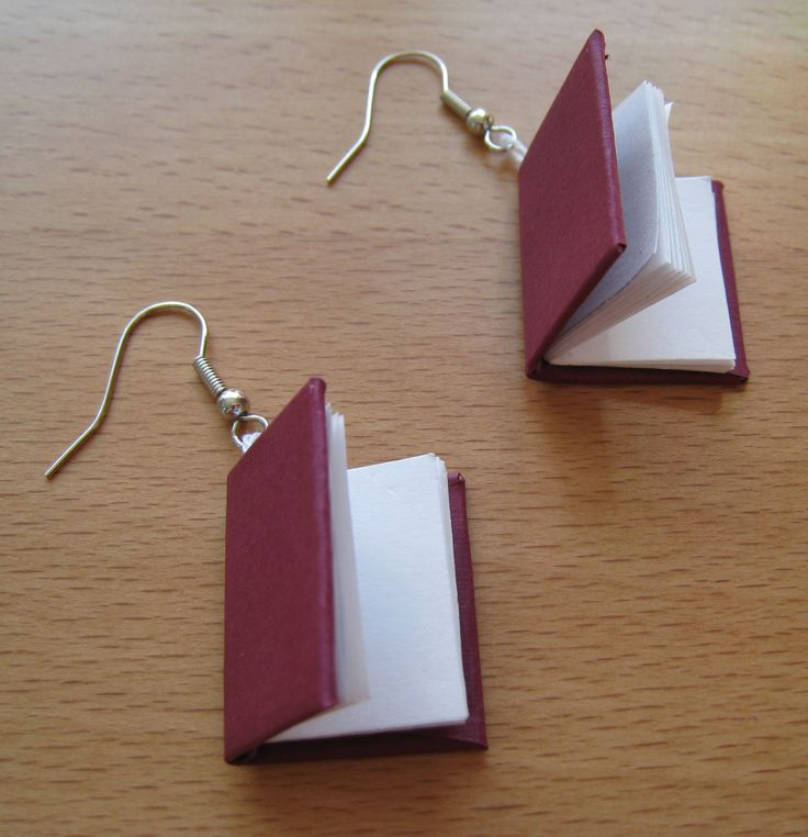 How to Make Book Earrings