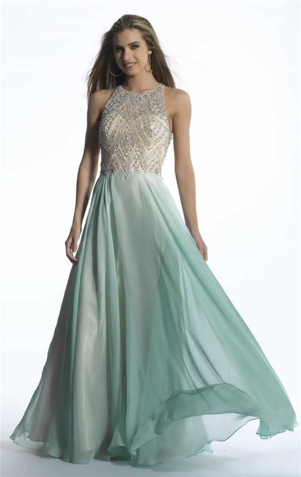 Dave and Johnny 1228 High Neck Beaded Long Prom Dresses Cheap