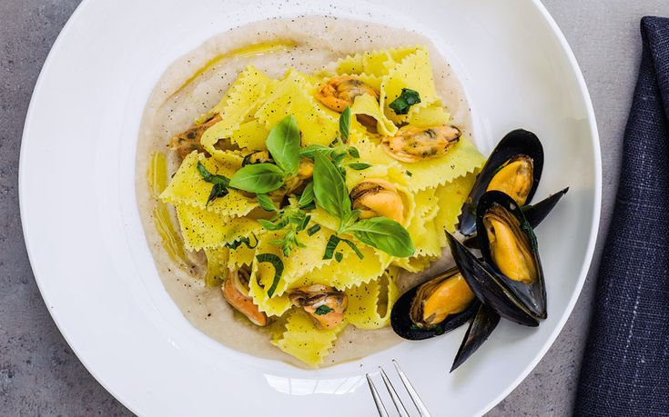 Pasta, White Beans and Mussels.