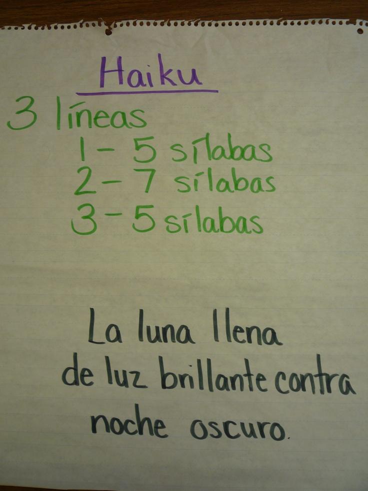 Haikus in Spanish