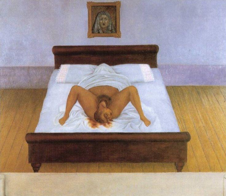 "Frida Kahlo ""La mia nascita"", 1932."